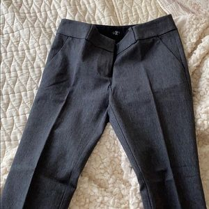 Thick Charcoal Gray LOFT Trousers/Work Pants